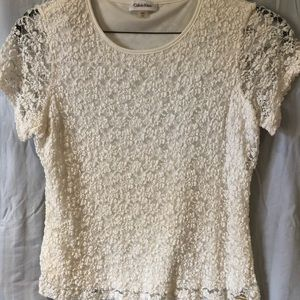 Lace top- listed as whit but not bright white